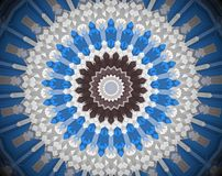 Abstract extruded mandala 3D illustration Royalty Free Stock Photography