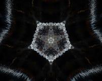 Abstract extruded mandala pentagon Royalty Free Stock Photography