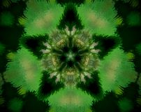 Abstract extruded mandala 5 sided star Stock Image
