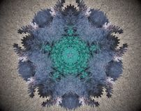 Abstract extruded mandala Royalty Free Stock Images