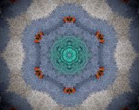 Abstract extruded mandala Royalty Free Stock Photo