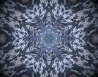 Abstract extruded mandala Royalty Free Stock Image
