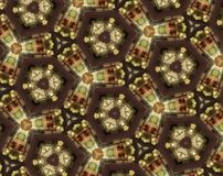 Abstract extruded pattern 3D illustration Stock Photography