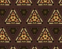 Abstract extruded pattern 3D illustration. Brown, green and red. Black and white. Seamless extruded background pattern. 3D illustration. Abstract shapes Royalty Free Stock Image