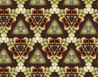Abstract extruded pattern 3D illustration. Brown, green and red. Black and white. Seamless extruded background pattern. 3D illustration. Abstract shapes Royalty Free Stock Photography