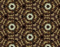 Abstract extruded pattern 3D illustration. Brown, green and red. Black and white. Seamless extruded background pattern. 3D illustration. Abstract shapes Royalty Free Stock Photo