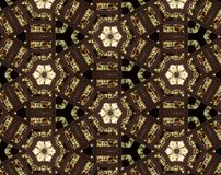 Abstract extruded pattern 3D illustration Stock Photo