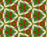 Abstract extruded pattern 3D illustration. Green, red and white. Seamless extruded background pattern. 3D illustration. Abstract shapes. Triangles Royalty Free Stock Image