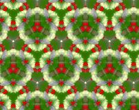 Abstract extruded pattern 3D illustration. Green, red and white. Seamless extruded background pattern. 3D illustration. Abstract shapes. Triangles, hexagons and Royalty Free Stock Photo
