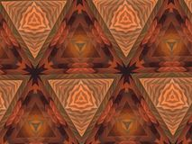 Abstract extruded pattern 3D illustration. Orange and brown. Green and red. Seamless extruded background pattern. 3D illustration. Abstract shapes. Triangles Stock Photos
