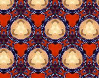Abstract extruded pattern 3D illustration. Orange, red and brown. Black, white and blue. Beige. Seamless extruded background pattern. 3D illustration. Abstract Royalty Free Stock Photography
