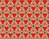 Abstract extruded pattern 3D illustration. Red, beige and white. Yellow. Seamless extruded background pattern. 3D illustration. Abstract shapes. Rounded convex Royalty Free Stock Image