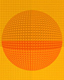 Abstract Extruding Block Sphere Background Stock Photo