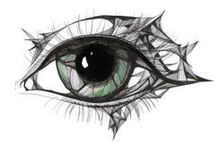 Abstract eye. Beautiful graphic painting of human eye Royalty Free Stock Photo