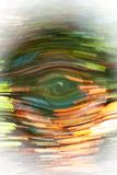 Abstract Eye Background. An abstract photo with the shape of an eye in the center royalty free illustration