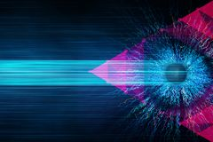Abstract eye background. Vision concept. 3D Rendering Stock Images