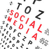 Social Media. Abstract eye chart background design isolated on white Royalty Free Stock Photo