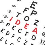 Idea. Abstract eye chart background design  on white Vector Illustration
