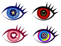 Abstract Eye Clip Art Icons royalty free illustration