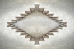 Abstract eye concept.Depth of loft cement building shape.Wall design Royalty Free Stock Images