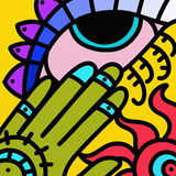Abstract eye decorated Stock Photography