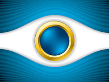 Abstract eye with gold ring Royalty Free Stock Images