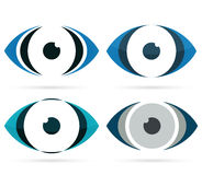Abstract eye icon, multicolored part of the face Stock Photography
