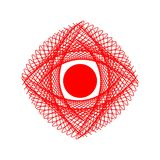 An abstract eye. Linear figure in vector illustration