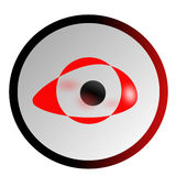 The abstract eye. The eye abstract logo with red colors Stock Photo