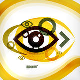 Abstract eye modern vector concept Stock Photo