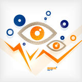 Abstract eye modern vector concept stock illustration