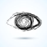 Abstract eye. Sketch Royalty Free Stock Image