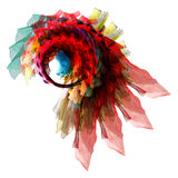 Abstract eye twist. Concept art colorful flower object royalty free stock images