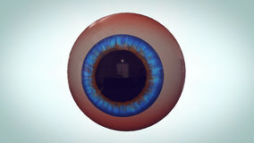 Abstract eyeball with red veins Stock Photo