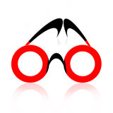 Abstract Eyeglasses. Abstract fancy eyeglasses over white background with reflection Stock Photos