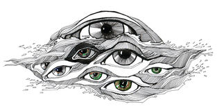 Abstract eyes Royalty Free Stock Photography