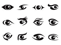 Abstract eyes icon set Royalty Free Stock Images