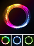 Abstract Eyes Iris Or Neon Light Stock Image