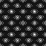 Abstract eyes seamless pattern. Seamless eyes background pattern. White and black  colors Stock Photography