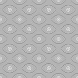 Abstract eyes seamless pattern. Seamless eyes background pattern. White and black  colors Stock Images