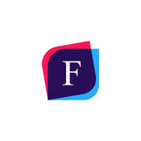 Abstract F letter logo company icon. Creative vector emblem bran Royalty Free Stock Image