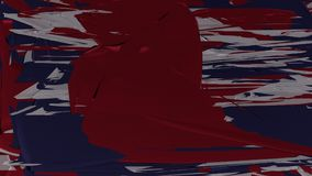 Abstract fabric background in US flag colors, large crimson form in the middle.  Royalty Free Stock Photos
