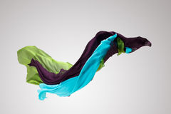 Abstract fabric in motion stock photography