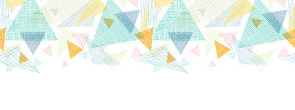 Abstract fabric triangles horizontal seamless Stock Images