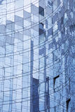 Abstract facade. Abstract corporate facade with reflections - La Defense, Paris - France Royalty Free Stock Image