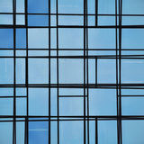 Abstract facade lines and glass reflection. On modern building. Architectural detail Royalty Free Stock Images