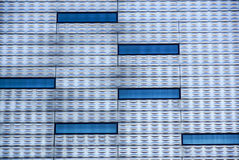 Abstract facade lines and glass reflection on modern building,abstract background.  Stock Photos