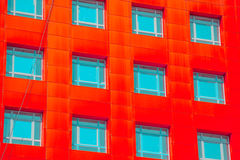 Abstract facade of a modern building Royalty Free Stock Photography