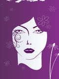 Abstract face. Vector illustration of a face and abstract elemets Royalty Free Stock Images