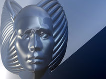 Abstract face. 3d render stock illustration